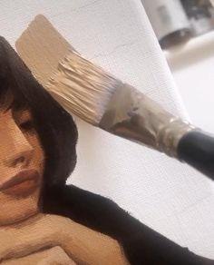 Fall Drawings, Art Drawings Sketches, Diy Wall Art, Diy Wall Decor, Decor Crafts, Portrait Acrylic, Portrait Art, Art Alevel, Female Portrait