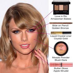 Amamos essa ideia de maquiagem, que, apesar de ter MUITO brilho, é super leve como o verão pede.