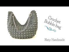 Chevron Purse, Crochet Bag Tutorials, Crochet Purses, Crochet Bags, Crochet Market Bag, Bobble Stitch, Knitted Bags, Pouch Bag, Bag Making