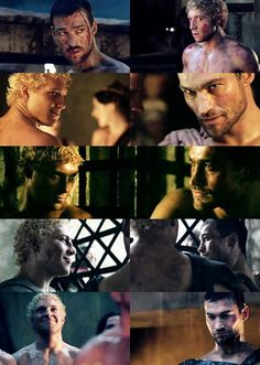 Jai Courtney - Andy Whitfield - Spartacus Blood and Sand