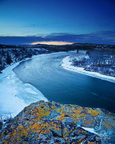 Winter Sunset over the Bow River, Cochrane, Alberta, Canada | by Olivier Du Tré, via Flickr