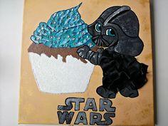 Für Babys - Bild Darth Vader star wars Led 40x40cm geschenk - ein Designerstück von atelier-house-decor bei DaWanda #weihnachtsgeschenke #starwars #starwarsfan #vader #darthvader #dawanda #gifts #giftideas #geschenkidee