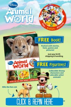 Calling all of the Disney fans! Get a free book and two free figurines, too. This is a perfect free offer for a toddler Mickey fan! http://couponcravings.com/freebie-alert-free-disney-animal-world-welcome-package