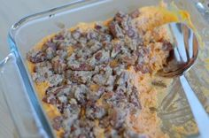 """If you are starting to plan out your Thanksgiving menu then this one is for you. I """"real foodinized"""" an old family sweet potato casserole recipe that calle"""