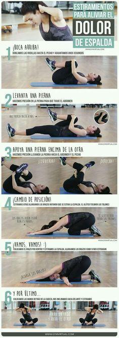 Estiramientos para aliviar el dolor de espalda #ciatico