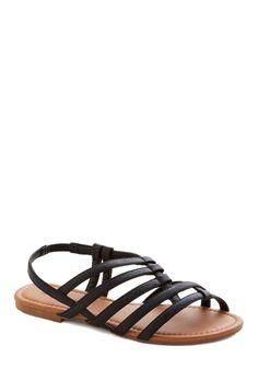 Corner Bistro Sandal in Black, #ModCloth