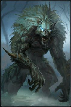 Here another example a monster made out of different animals this is a werewolf this is made out of a human and a wolf Monster Art, Fantasy Monster, Dark Fantasy Art, Fantasy Artwork, Fantasy Rpg, Mythological Creatures, Mythical Creatures, Super Mario Rpg, Werewolf Art