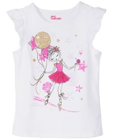 Epic Threads Toddler Girls T-Shirt, Created for Macy's - Shirts & Tees - Kids - Macy's Dress Painting, T Shirt Painting, Dance Outfits, Kids Outfits, Baby Ballet, Baby Doll Accessories, Disney Shirts For Family, Girls Pajamas, Summer Girls