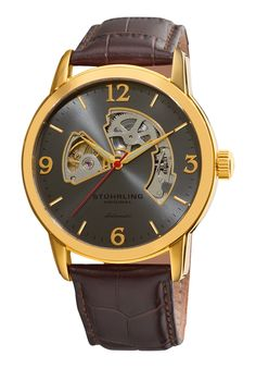 Price:$100.00 #watches Stuhrling Original 1074.3335K54, Created in a blend of fashion and class, this Stuhrling timepiece exhibits a bold style that adds flare to your collection.