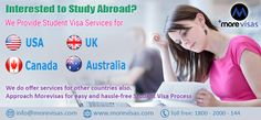 Are you planning to #Study Abroad? Looking for migrate to your dream destination for study? Then Approach #MoreVisas