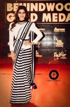 Amazing #sam💗❤😚 Kajol Saree, Half Saree Lehenga, Khadi Saree, Blue Lehenga, Saree Look, Saree Dress, Drape Sarees, Saree Draping Styles, Saree Styles