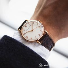 Schaffhausen // A vintage eighteen-carat rose-gold IWC dress watch. This manual-winding reference 390 cal.60 was first delivered on the 6th of June 1947. This watch was fully restored by IWC in 2013 and serviced by them in April 2016. It comes with all the receipts and paperwork confirming the above as well as an Archive Extract from the Manufacturer // Available this week at http://ift.tt/1qIwSwQ