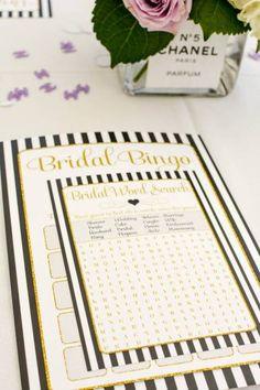 Bridal Shower Game Bingo Word Search