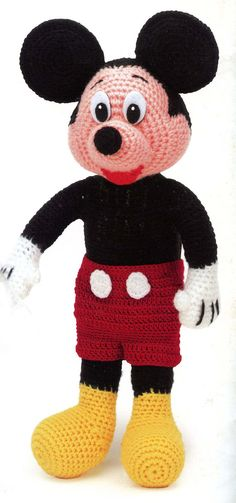 Mickey Mouse Crochet Pattern  @Patti Puckett Mintus New project for Lucy Mae?  You know, after I finally finish her blanket.