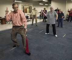 Dr. Yong Wang leads a tai chi class at the University of Texas at Tyler Tuesday Feb. 21, 2017. The class started as a three month study on the effects of tai chi on patients with peripheral neuropathy and is continued as a community service. (Sarah A. Miller/Tyler Morning Telegraph)