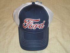 aad0c971f50 FORD Red Glitter Baseball Cap Hat Mesh Back Adjustable Size Navy Blue    White  Ford  BaseballCap