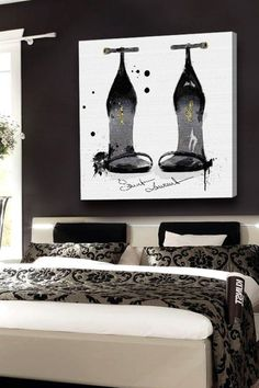 Oliver Gal Perfect Black Sillhouette Canvas Art by Oliver Gal Gallery on @HauteLook