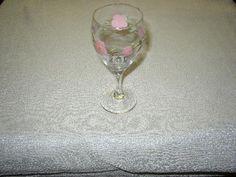 Desert Rose wine goblet (made in England)