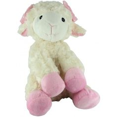 Beverly Hills Teddy Bear Company Plush Pink Lamb with Rattle