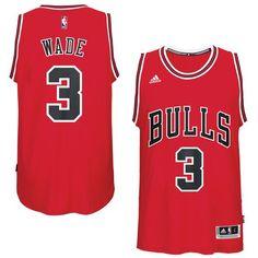 Men s Chicago Bulls Dwyane Wade adidas Red Swingman Jersey 1 Dwyane Wade 8fe01c9b7
