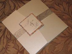 Glitter Wedding Invitation Sparkle Wedding by MagicBeyondMidnight