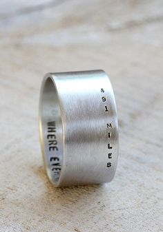 Long distance relationship ring by PraxisJewelry on Etsy