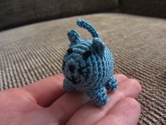 For all the cat lovers- one that doesn't shed!  This little amigurumi is about 1.5 inches tall