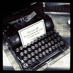 i have a soft spot for beautiful vintage typewriters