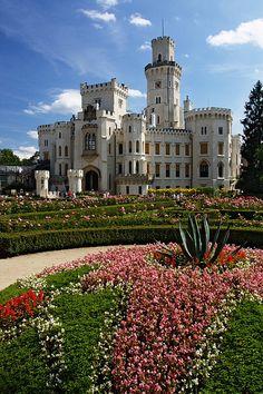 Hluboká Castle in South Bohemia, Czech Republic