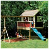 Diy playhouse plans Learn how to build a beautiful and fun backyard playhouse for your children or grandkids Build it in Kids Playhouse Plans, Backyard Playhouse, Build A Playhouse, Wooden Playhouse, Backyard Playground, Backyard Fort, Children Playground, Playground Ideas, Wooden Fort