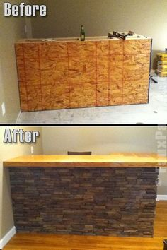Need home bar inspiration? Look no further. Our faux panels make it easy!