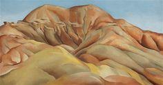 Georgia O'Keeffe, ON THE OLD SANTA FE ROAD, 1930, oil on canvas
