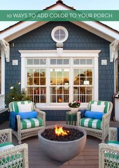 10 Ways To Infuse Some Color Into Your Outdoor Space