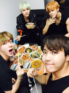 Jin, Suga,  J-Hope and Jimin