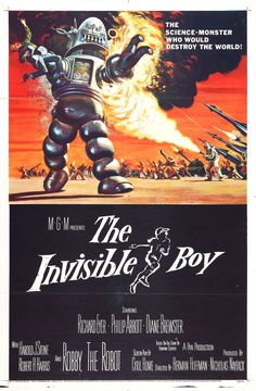 The Invisible Boy featuring Robby the Robot movie poster