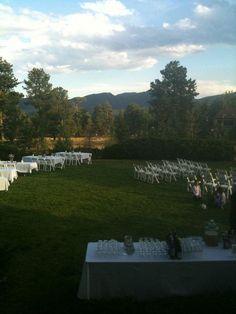 Our wedding in Estes Park, CO.