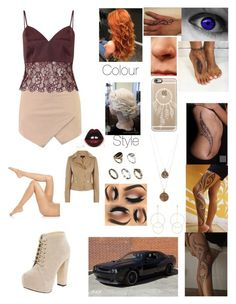 """""""Beige and burgundy"""" by lumsdenk on Polyvore featuring Matchless, Casetify, ASOS, Bee Charming, Accessorize, LULUS, Boohoo, Falke and Miss Selfridge"""
