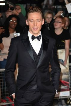 """Tom Hiddleston attends the world premiere of """"Thor: The Dark World"""" at The Odeon Leicester Square on October 22, 2013 in London, England. (Photo by Dave Hogan/Getty Images) 2013."""