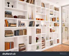 New Wall Storage Unit Built Ins Bookshelves Ideas Living Room Wall Units, Bookshelves In Living Room, Wall Bookshelves, Bookshelf Design, Built In Bookcase, Home Living Room, Apartment Bookshelves, Bookcases, Wall Shelves