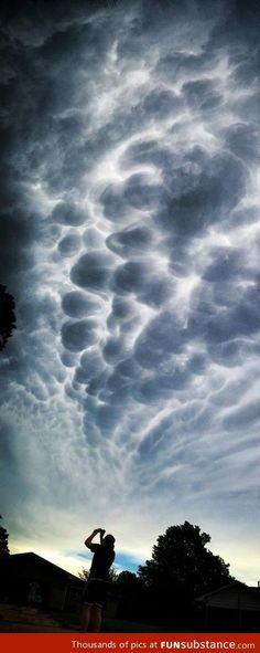 Pre-tornado storm clouds