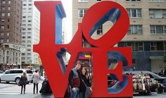 The Love Sculpture is one of the most famous pieces of pop art and just happens to be sitting on the corner of Sixth Avenue at 55th Street i...