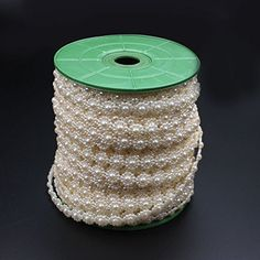 MEIBEADS 5m/roll 55g Pearl Beads For Decoration Jewelry Making Perolas Para Bijuterias Crafts Materials£¨pearl white£© * You can get more details by clicking on the image.
