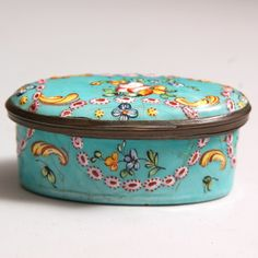 Enamel Snuff Circa 1780 from Seaver & McLellan Antiques for $450 on Square Market