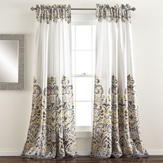 The Lush Decor Clara 84-Inch Room Darkening Window Curtain Panel Pair will help you save energy and add to the style of your room. Blocking the sunlight with these curtains will lead to better room temperature regulation.