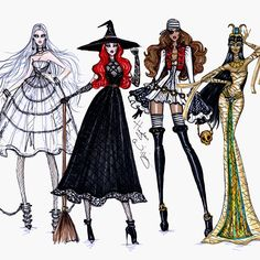 #HauntCouture by Hayden Williams. #RattlingChains #HocusPocus #TreasuredPossession & #UnderWraps - Which Halloween inspired look is your fave??