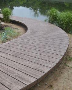 conrete wood walkway backyard, concrete masonry, diy, woodworking projects