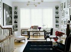 Decoração com fotos branco e preto