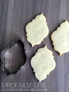 Cookie Cutter Mirror Plaque  A4 by OneCakeaDay on Etsy