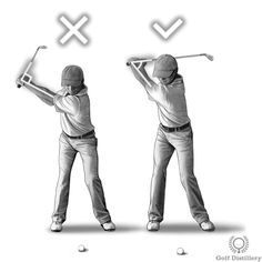 Position your wrists at a fully hinged position at the top of your swing. This is in contrast to reaching the top of the swing before the wrists have had time to hinge completely, or to simply opt not to hinge them completely for whatever reason.