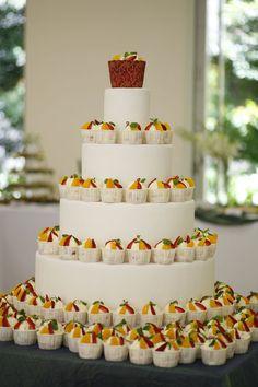 Love this for a dessert bar at a wedding.